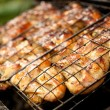Close-up of a barbecue - Foto Stock