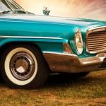 Front part of retro car — Stock Photo