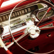 Vintage car interior - Foto Stock