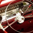 Vintage car interior - Stockfoto