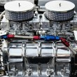 Stock Photo: Chrome big block engine