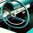 Retro car interior - 图库照片