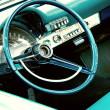 Retro car interior — Stock Photo