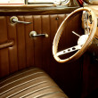 Vintage car interior. - Stock Photo