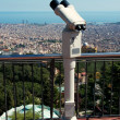 Panoramic view of Barcelona city — Stock Photo