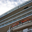 Lifeboat on cruise ship. - Stock Photo