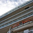 Lifeboat on cruise ship. - Stok fotoğraf
