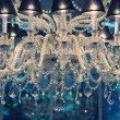 Stock Photo: Vintage crystal chandelier