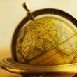 Stock Photo: Close-up of a vintage globe