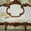 Luxury vintage white sofa - Stock Photo