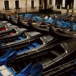 Picture of a many gondolas — Stock Photo