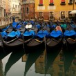 Stock Photo: Picture of a many gondolas