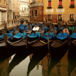Stock Photo: Picture of many gondolas