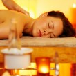 Woman relaxing in massage salon — Stock Photo #12374206
