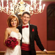 Beautiful couple on their wedding day — ストック写真 #12374258