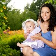 Mother with her child outdoors — Stock Photo #12374307