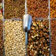 Stock Photo: Market stand with fresh dried fruit and nuts