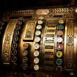 Vintage cash register - Stock Photo