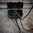 Old electrical metal box - Stock Photo