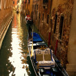 Traditional venetian gondola. — Foto Stock