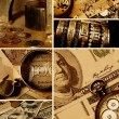Money collage — Stock fotografie