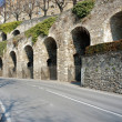 Road in Bergamo city, Italy — Stock Photo