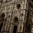 Close-up of a Duomo cathedral in Florence, Italy — Stock Photo #12374503