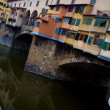 Stock Photo: Close-up of Ponte Vecchio bridge in Florence, Italy