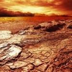 burzliwy niebo nad pustyni — Zdjęcie stockowe