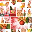 Christmas collage — Stock Photo #12374527