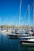 Yachts & boats in a harbour — Stock Photo