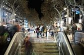 View of La Rambla in evening — Foto Stock
