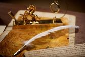 Vintage letter on a table — Stock Photo