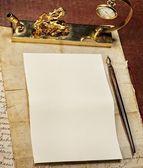 Vintage blank paper — Stock Photo
