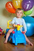 Cumpleaños de año 1 de niño del bebé — Foto de Stock