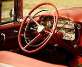 Retro car interior — Photo