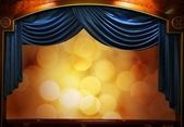 Drop-curtains with abstract background — Stock Photo