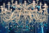 Vintage crystal chandelier — Foto Stock