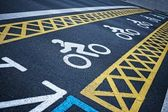 Bicycle road — Stock Photo