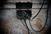 Old electrical metal box — Stock Photo