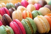 Colorful macaroons background. — Stock Photo