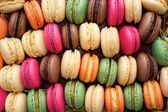 Colorful macaroons background — Stock Photo