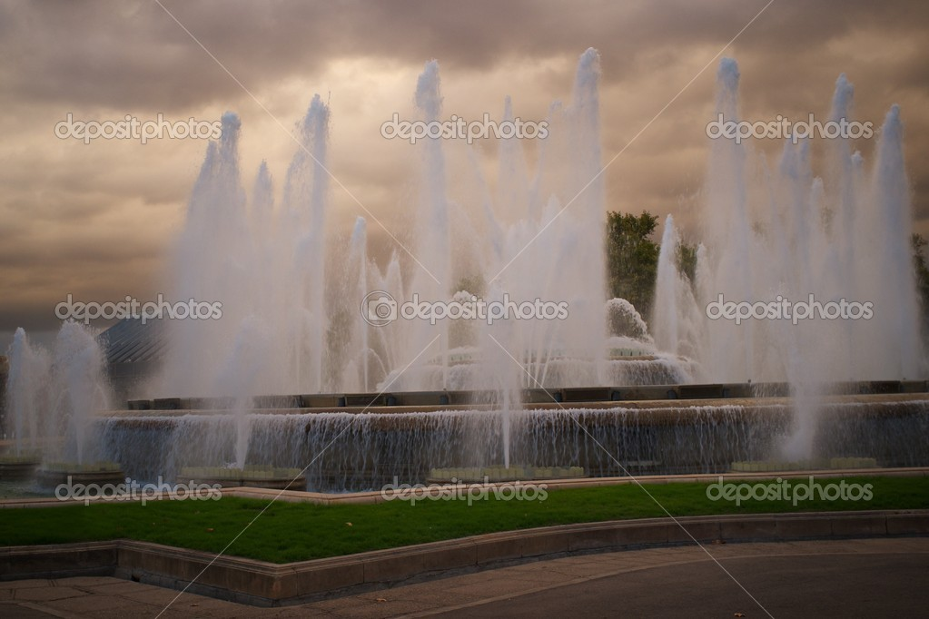 Magic fountain in Barcelona — Stock Photo #12373442