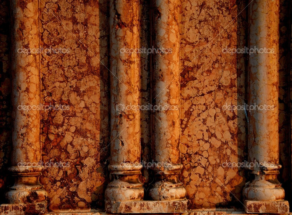 Marble wall with columns — Stock Photo #12373961