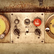 Stock Photo: Control panel of old machine