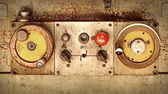 Control panel of old machine — Stock Photo