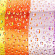 Multi-coloured striped drops — Stock Photo