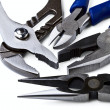 Wire cutting and flat-nose pliers - Stock Photo