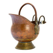 Antique copper jar. Isolated image. — Stock Photo