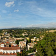 Panorama from Tortosa castle to the town abd mountains. — Foto Stock
